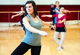 dancer in ballet class