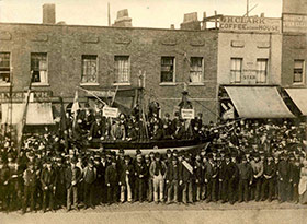 Dock Strike, East India Dock Road, 1889