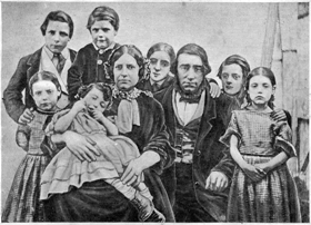 The Crooks family, Will is second from the right