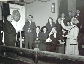 Mayoress of Bethnal Green, Bethnal Green National Savings Darts Competition Final, 1952