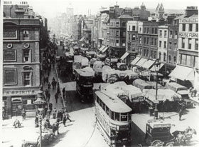Whitechapel High Street, looking west, c 1920