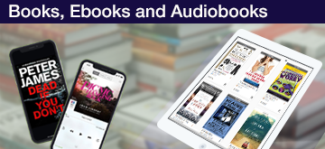 books, ebooks and audiobooks