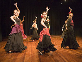 flamenco dancers on stage